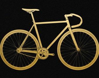 Fixie Gold Foil Print 8x11