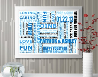 "Personalized ""My/Our Life"" Wall Art"