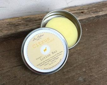 Organic: Citrus Blend Lotion Bar