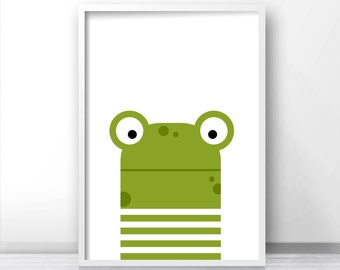 Nursery Print, Frog Nursery Decor, Nursery Art, Kids Wall Art, Instant Download Baby Nursery Art, Kids Art, Kids Room Decor, Animal Nursery