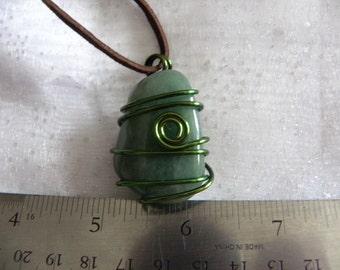 206 Green Quartz Necklace