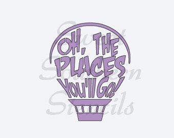 Oh, The Places You'll Go Balloon Stencil