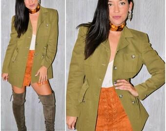 Olive green jacket | Etsy