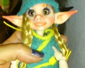 OOAK BJD Art Doll Fairy Elv Rukis