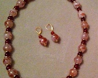 Glass and Cornelian Beaded Necklace