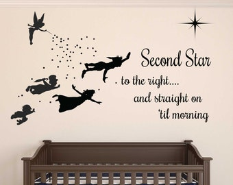 Peter pan Wall decal - REMOVABLE