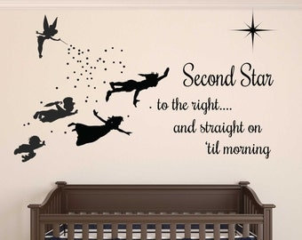 Peter Pan Wall Decal   REMOVABLE Part 4