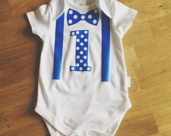 Boys first birthday outfit, cake smash outfit, 1st birthday boy babygrow, first birthday cake smash outfit, boy