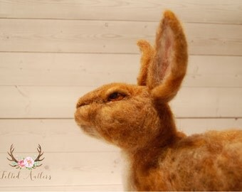 Needle Felted Brown Rabbit