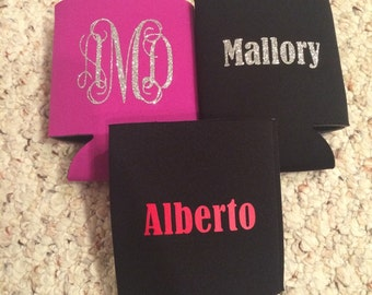 Monogrammed Can Coozie