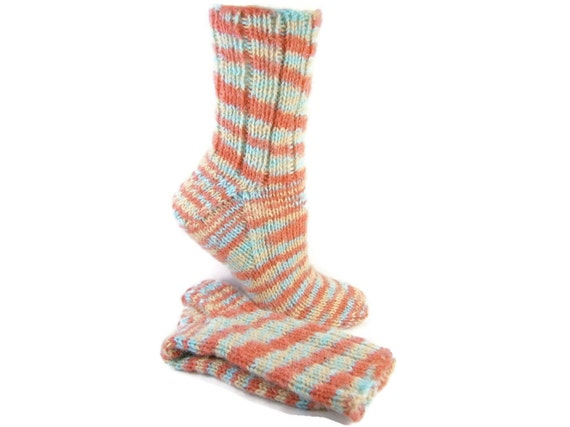 Knitting Pattern For Ski Socks : Ski Socks Knitted Acrylic Alpaca Blend Warm Winter by PEIsocks