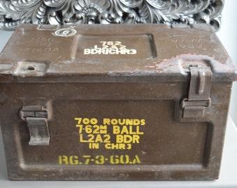 Military Original Vintage Ammunition Box WW 1959