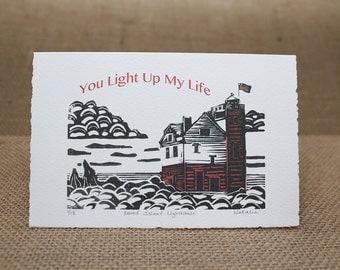 Valentine's Day Card Set – Round Island Lighthouse