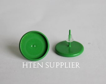 20/100Pcs Color paint green Earring Posts With Round 12mm Pad,8mm 10mm 12mm 14mm 16mm Earring setting,Earring Blank