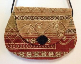 Chenille crossbody Handmade crossbody, crossbody purse, handbags, shoulder bag,  accessories, small purse, hip  bag  handmade purse bag
