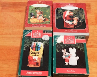 4 Collectible Hallmark Ornaments  #13              00734