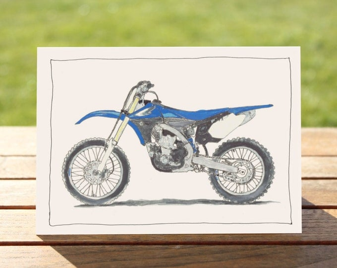 "Motorcycle Gift Card Yamaha YZ 450F | A6 Measures: 6"" x 4"" / 103mm x 147mm 