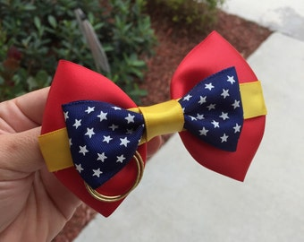 WonderWoman inspired hairbow