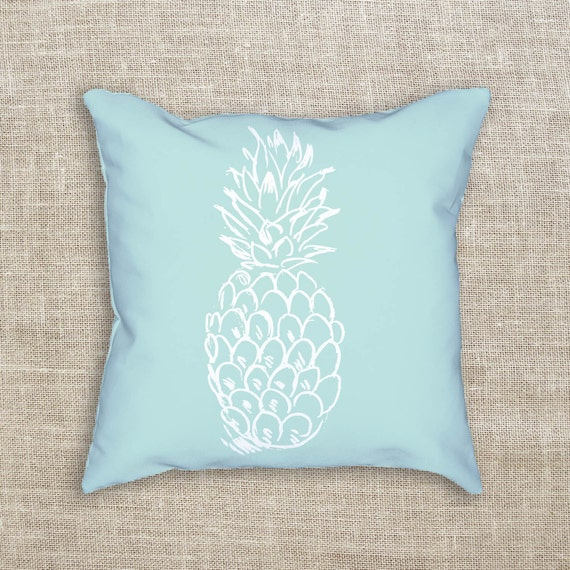 Coastal Home Throw Pillows : Beach House Decor Pineapple Pillow Accent Pillow Beach