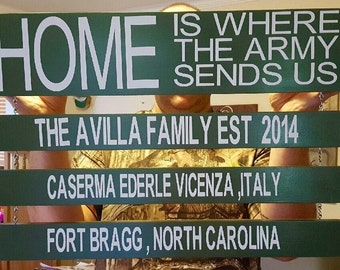 Military Duty Station Sign