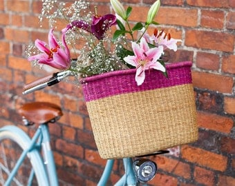 Colourful Pink Bicycle Basket