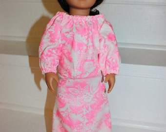 18 inch Doll,18 inch Doll Clothes,Sleepwear,Doll Clothes,Doll Nightgown,18 inch Doll Nightgown,American Made Doll Clothes