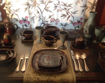 VINTAGE BeauceWare Ceramic Dinnerware/Service de Table/ceramic of Beauce/67 pieces