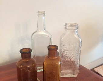 Collection of antique and vintage bottles