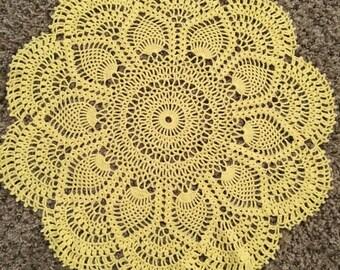 15 inch Yellow Cotton Doily / Decor