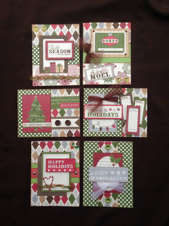 Christmas Card Kit Premade Christmas Cards Handmade Card