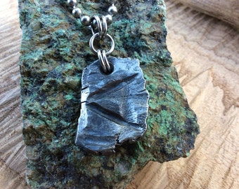 Kenaz  Hand forged Rune necklace from 100 year old wrought iron