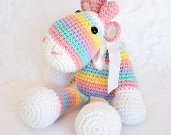 Crochet Stripey Giraffe - Custom Made