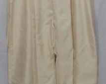 HOT SALE!!! Vintage Japanese Hakama Skirt for Woman / Andon / Kimono Pants / White Cream