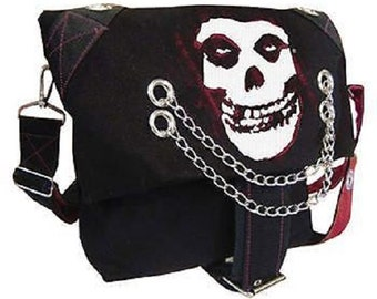 MISFITS Messenger Shoulder Bag  With Chains