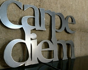 carpe diem metal sign for home decor wall signs gifts - Metal Signs Home Decor