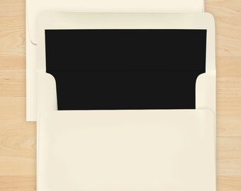 Black Envelope Liner - Additional Options