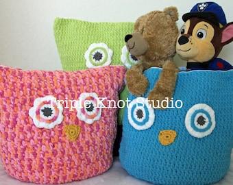 Oversized Owl Pillow, Crochet Owl Pillow, Owl Storage Bag, made to order