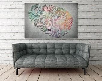 Canvas Print - ABSTRACT FINGERPRINT - (28001)
