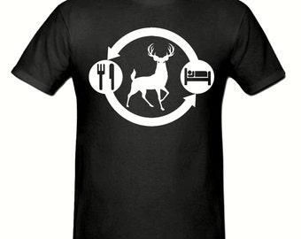 Eat Sleep FARM,DEER t shirt,men's t shirt sizes small- 2xl, FARMING men's t shirt