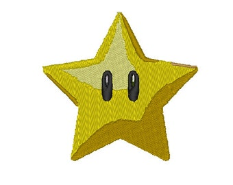 Mario Star Embroidery Patter