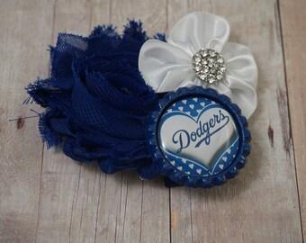 LA Dodger's hair clip - adult hair bow - LA Dodger's hair accessory