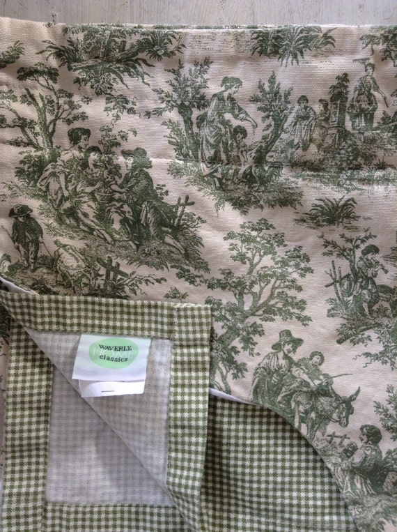 Vintage waverly toile valance s shabby french country for Toile shabby chic