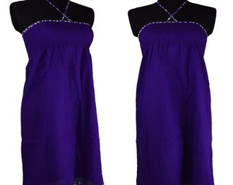 Purple Dress smocked
