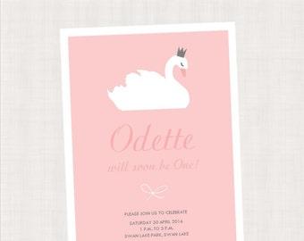 Swan Princess Collection Printable Invitation
