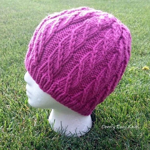 Knitting Pattern For Unicorn Hat : Knitting PATTERN - Unicorn Slayer, Twisted Hat, Spiral Hat, Knitted Hat, Hat ...