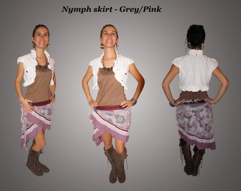Nymph Skirt - Grey/pink