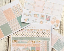 Peachy Perfect Erin Condren Vertical Weekly Kit Planner Stickers