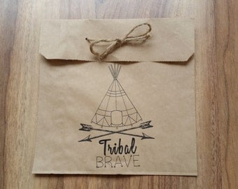 Tribal Custom Made Loot Bags with twine x 10