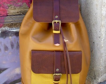Leather backpack Handmade leather backpack by KalaArt