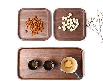 Walnut Wood Tray, Wooden Tray, Wooden plates, Tea Tray